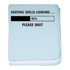 Skating Skills Loading baby blanket
