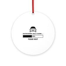 Skateboarding Skills Loading Ornament (Round)