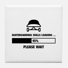 Skateboarding Skills Loading Tile Coaster