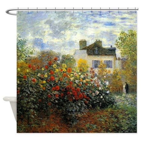 The Garden of Monet at Argenteuil Shower Curtain