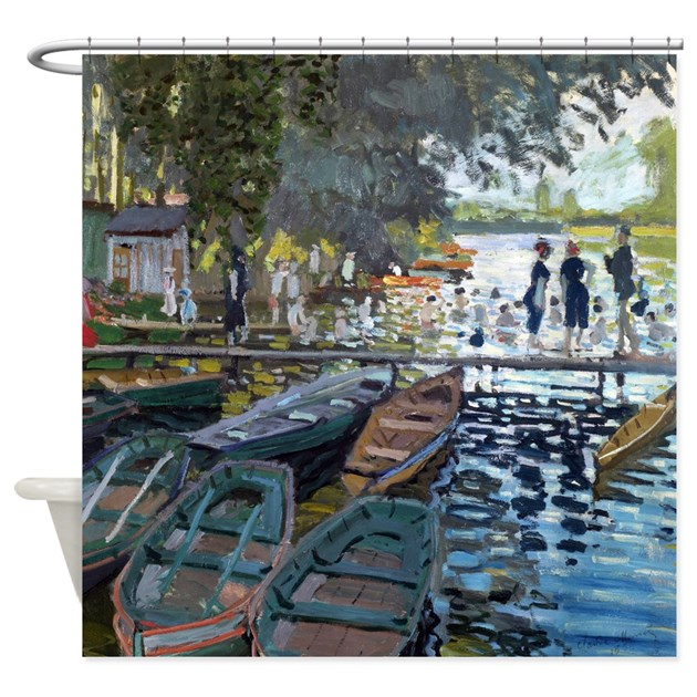 Monet bathers at la grenouill re shower curtain by iloveyou1 for Design your own bathers