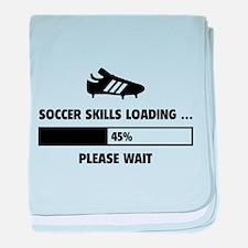 Soccer Skills Loading baby blanket
