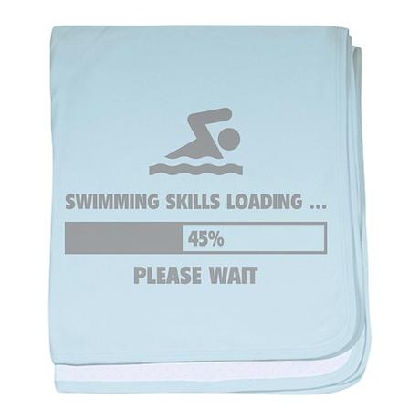 Swimming Skills Loading baby blanket