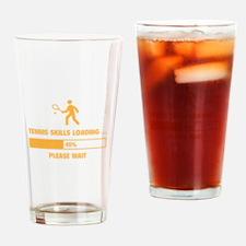 Tennis Skills Loading Drinking Glass