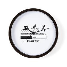 Triathlon Skills Loading Wall Clock