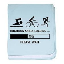 Triathlon Skills Loading baby blanket