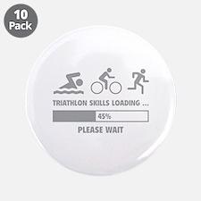 "Triathlon Skills Loading 3.5"" Button (10 pack)"