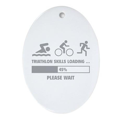 Triathlon Skills Loading Ornament (Oval)