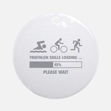 Triathlon Skills Loading Ornament (Round)