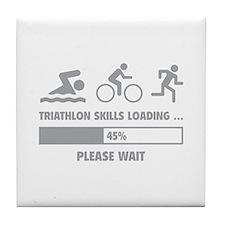 Triathlon Skills Loading Tile Coaster