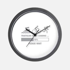 Triathlon Skills Loading Wall Clock