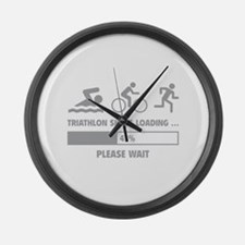 Triathlon Skills Loading Large Wall Clock