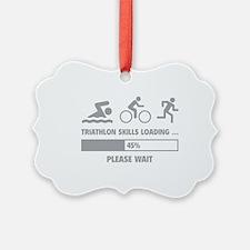Triathlon Skills Loading Ornament