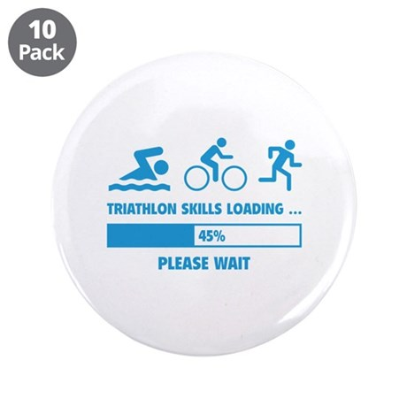 "Triathlon Skills Loading 3.5"" Button (10 pack)"