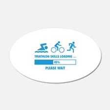 Triathlon Skills Loading 22x14 Oval Wall Peel