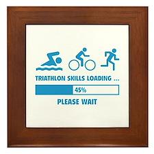 Triathlon Skills Loading Framed Tile