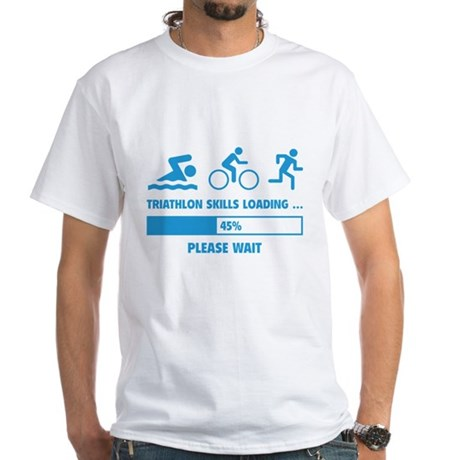 Triathlon Skills Loading White T-Shirt