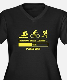 Triathlon Skills Loading Women's Plus Size V-Neck