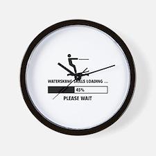 Waterskiing Skills Loading Wall Clock