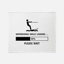 Waterskiing Skills Loading Throw Blanket