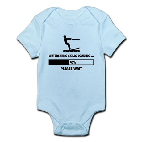 Waterskiing Skills Loading Infant Bodysuit