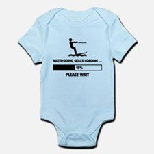 Waterskiing Skills Loading Infant Bodysuit