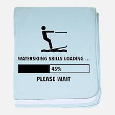 Waterskiing Skills Loading baby blanket