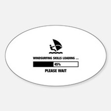 Windsurfing Skills Loading Sticker (Oval)