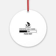 Windsurfing Skills Loading Ornament (Round)