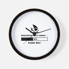 Windsurfing Skills Loading Wall Clock