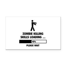 Zombie Killing Skills Loading Rectangle Car Magnet