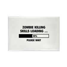 Zombie Killing Skills Loading Rectangle Magnet (10