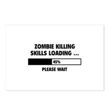 Zombie Killing Skills Loading Postcards (Package o