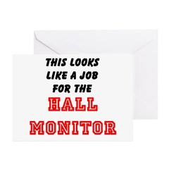 Hall Monitor Greeting Cards (Pk of 10)