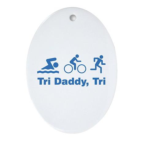 Tri Daddy, Tri Ornament (Oval)