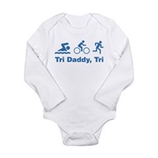 Tri Daddy, Tri Long Sleeve Infant Bodysuit