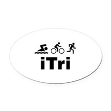 iTri Oval Car Magnet