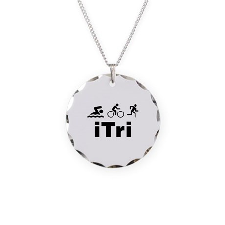 iTri Necklace Circle Charm