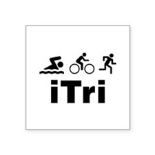 "iTri Square Sticker 3"" x 3"""