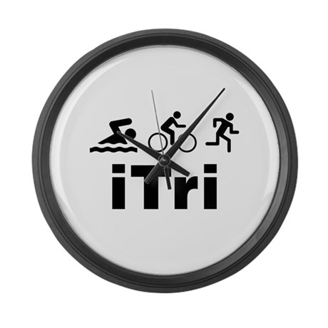 iTri Large Wall Clock