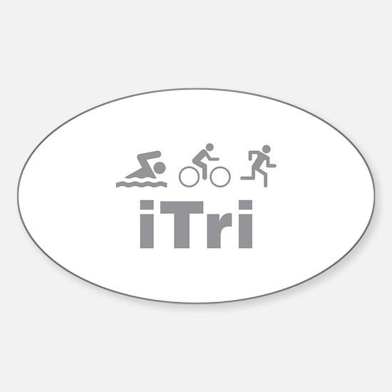iTri Sticker (Oval)