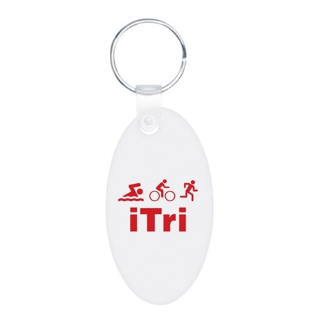 iTri Aluminum Oval Keychain