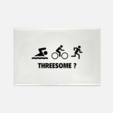 Threesome ? Rectangle Magnet (10 pack)