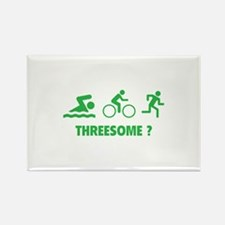 Threesome ? Rectangle Magnet