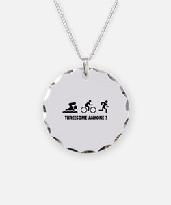 Threesome Anyone ? Necklace Circle Charm