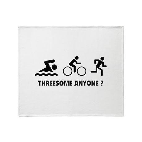 Threesome Anyone ? Throw Blanket