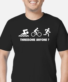 Threesome Anyone ? Men's Fitted T-Shirt (dark)