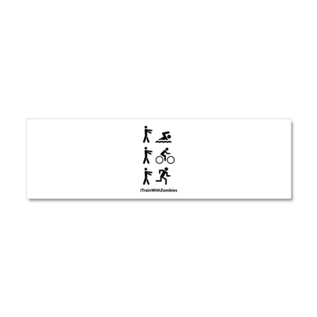 iTrainWithZombies Car Magnet 10 x 3