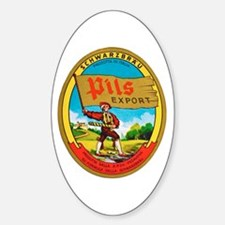 Italy Beer Label 2 Sticker (Oval)