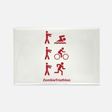 ZombieTriathlon Rectangle Magnet